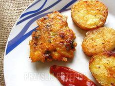 Placuszki z kurczaka z serem i pieczarkami