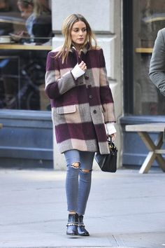 Olivia Palermo in Jeans out in New York - November 12, 2016
