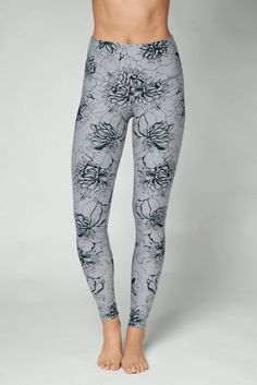 bd94cc47d680e DYI Dark Grey Floral Printed High Waisted Full Length Leggings Dark Grey,  Poppies, Dyi