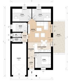 Családiház modell 80nm+19,7nm garázs – hiroshazepito.hu Small House Plans, Home Staging, Home Projects, Interior And Exterior, Sweet Home, New Homes, Floor Plans, House Design, Flooring
