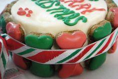 Christmas Bone Doggy Cake