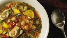 Marokkanische Gemüsesuppe mit Couscous und Artischockenherzen!