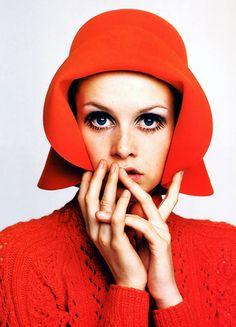Portrait of English model Twiggy, United Kingdom, 1967, photograph by Richard Avedon.