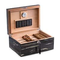 Visol PortHole Ebony Finish Cigar Humidor (Holds 75 Cigars)   Overstock.com Shopping - The Best Deals on Humidors Cigar Club, Cigar Bar, Cigar Boxes, Cigar Humidifier, Best Humidor, Cuba, Anniversary Ideas For Him, Gift Box For Men, Wine Gift Baskets