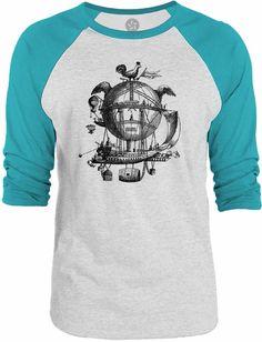 Big Texas The Amazing Sky Machine 3/4-Sleeve Raglan Baseball T-Shirt