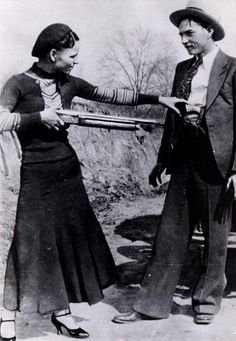 """""""This here's Miss Bonnie Parker. I'm Clyde Barrow. We rob banks."""" ~Chasing Bonnie Clyde It was Texas Lawmen that brought them down! Bonnie Parker, Bonnie Clyde, Rare Photos, Vintage Photographs, Old Pictures, Old Photos, Famous Pictures, Amazing Pictures, Poster Print"""