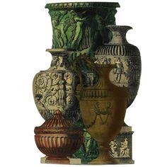Vasi Antichi umbrella stand by Fornasetti Umbrella Holder, Umbrella Stands, Piero Fornasetti, Mid Century Modern Decor, Midcentury Modern, Pottery Designs, Hand Coloring, Art Decor, Antiques