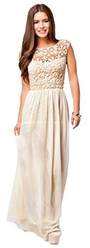 Lovaru Women's Sexy White Crochet Chiffon Summer Sleeveless Maxi Dress Lovaru http://www.amazon.com/dp/B00LPCYV1G/ref=cm_sw_r_pi_dp_5ZUwub1D80W3A