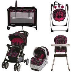 Graco Ariel with 10% off Coordinating Pieces- I want this baby set for my little girl if i ever have one. i love it!