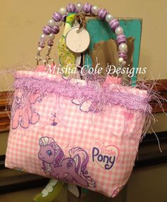 My Little Pony Purse with Beaded Handle Misha by mishacoledesigns, $10.00