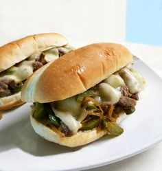 I have been looking around for more good sandwich recipes and I decided to try a Philly cheese steak.  Since I never actually had a Philly cheese steak, I picked a recipe from the internet that looked good without thinking much about it. I then ran the ingredients by John who has had a real Philly