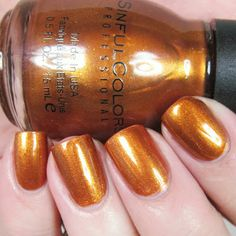 Handtastic Intentions: Sinful Colors Copper Pot Swatch and Review