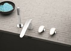 #FIR Italia presents the new bathroom fitting collection: #Synergy, with DuPont™ Corian® finishes