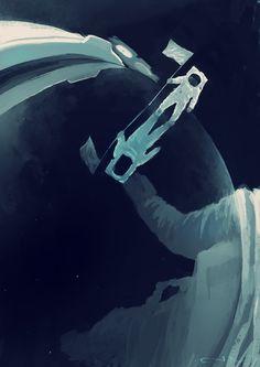 Dreams in cosmos by Aleksey Litvishkov, via Behance