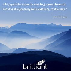 """It is good to have an end to journey toward; but it is the journey that matters, in the end."" #hemingway  #brillianttransportation"
