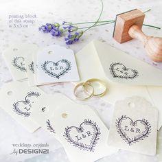 Coeur: timbre personnalisé 3x3 cm par lida21 sur Etsy