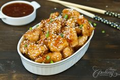 Bring variety in cooking and try this Chinese Honey Sesame Chicken. It is sooo good.