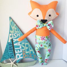Remember our Minecraft inspired fox from yesterday? We've introduced him to our shop! His name is Cove the Fox. Today he's heading to Florida where he'll help celebrate a little boy's 7th birthday.