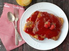Gojee - Peanut Butter French Toast and Homemade Organic Strawberry Syrup by Boulder Locavore