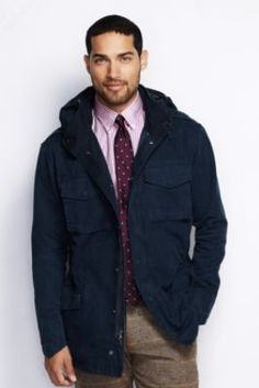 Men's Long Sleeve M65 Jacket from Lands' End