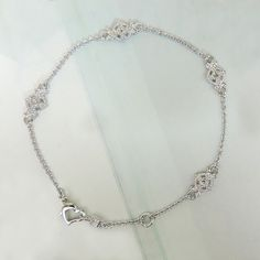 Euphoria Sterling Silver & Diamond Link Anklet Price: $189
