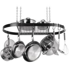 Oval Hanging Pot Rack (Black Enamel) - RANGE KLEEN - CW6000R - Humble Brothers