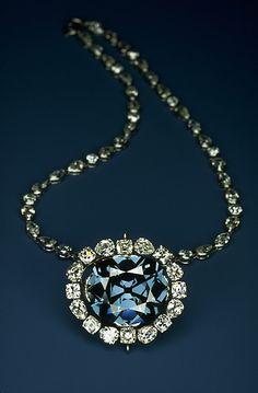 The Hope Diamond. A 45.5-carat rare blue diamond.