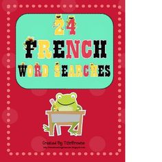 24 Word searches in French for the entire school year!
