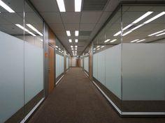 |会議室エリア|ガラスの間仕切りを使用した開放感のある来客エリア内の会議室廊下
