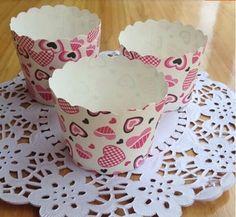 Романтический розовый в форме сердца шаблон кекс чехол булочки бумага торт чашки лайнеры дешевые кексы свадьба ну вечеринку украшения