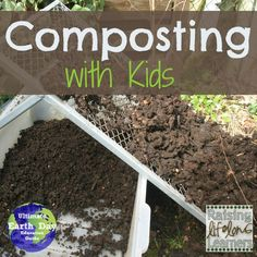 Composting with kids this Earth day and every day from Raising Lifelong Learners on ALLterNATIVElearning