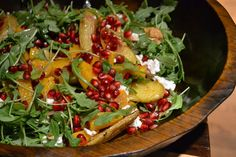 Arugula, feta, roasted potatoes and pomegranate seeds. Green With Renvy: Meatless Monday