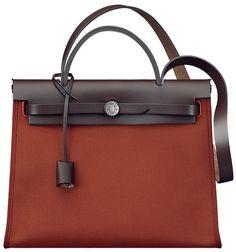 Hermes-Herbag-Zip-Bag-in-canvas-and-Cowhide from Brag My Bag 2016 ...