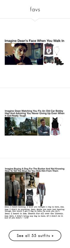 """""""favs"""" by httpkristina ❤ liked on Polyvore featuring Vintage, Crafted, Steve Madden, imagine, supernatural, DeanWinchester, Go Green M by M, Refuge, dog and samwinchester"""