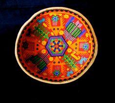 Huichol Sacred Beaded Gourd Bowl Used By Shaman by EthosEthnicArt