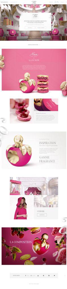 La tentation by Nina Ricci Beautiful experiment. Website Design Inspiration, Blog Design, Page Design, Creative Design, Ux Design, Design Homes, Design Room, Design Firms, Graphic Design