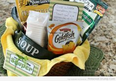 'Thanks for Being Souper' Gift Basket -or- could be 'Get Well Soon' gift Basket. Image only.