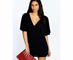 boohoo Lucy Plunge Frill Sleeve Bodycon Dress - black Accentuate your waist with this figure-skimming, frill sleeve dress - its bodycon at its best! Well be wearing it with leg-lengthening nude heels , an easy-to-wear envelope clutch and quirky arm cuff  http://www.comparestoreprices.co.uk/dresses/boohoo-lucy-plunge-frill-sleeve-bodycon-dress--black.asp