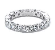 #Tacori #FallBling Vivid round diamonds delight on this platinum infinity band. Opulent yet sophisticated, this band glows with bold diamond flourishes.-Tacori FallBling