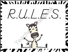 R.U.L.E.S. POSTERS product from Wolfelicious on TeachersNotebook.com