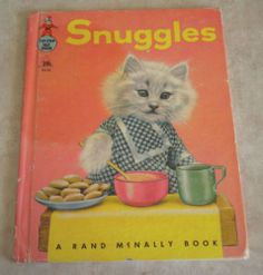 Vintage Kids Tip Top Elf Book 1958 Snuggles Kittens Cats in Clothes Ruth Dixon