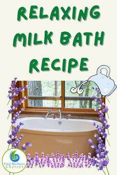 Himalayan Salt Bath, Bath Recipes, Vitamins For Skin, Diy Home Decor Easy, Lavender Buds, Milk Bath, Sweet Almond Oil, Bath Salts, Bath And Body