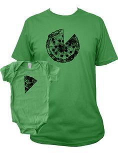 Matching Father Baby Shirts Pizza T shirts by SunshineMountainTees