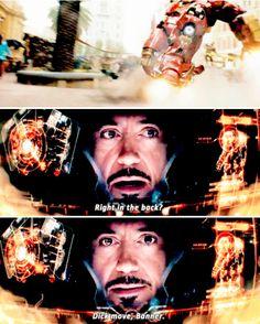 """Dick move, Banner"" - Iron-Man and Hulk #Avengers: #AgeOfUltron"