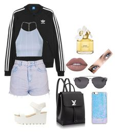 """Untitled #133"" by fweakydarcy on Polyvore featuring adidas Originals, Topshop, Christian Dior, Lime Crime and Marc Jacobs"