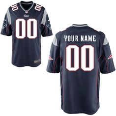 Nike Men's New England Patriots Customized Game Team Color Jersey I need a new one!