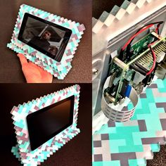 Custom Made Case - Minecraft Raspberry Pi Touchscreen Computer - We do more than signs!! Router cut acrylic + printing direct to acrylic subsurface  #joshcampostech for #logan @raspberrypifoundation #minecraft #raspberrypi #customcase #case  #laboroflove #makersmovement @makerfaire #gamer #cnc @axyzintl #forthekids