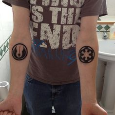 My little star wars tattoos #tattoo #starwars #jedi #empire