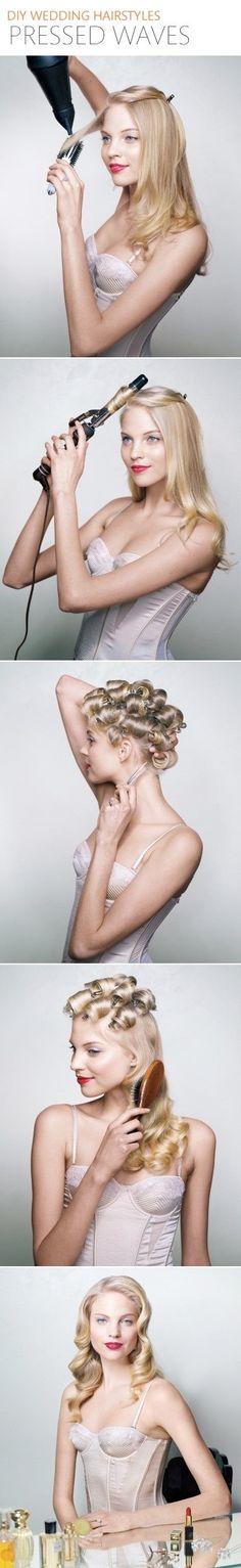 Pressed Waves Wedding Hairstyle