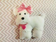 Felt Miniature Schnauzer Plush felt dog dog by BeckyLynnCreations
